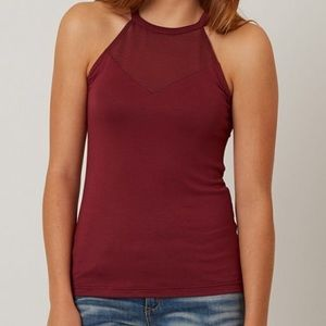 Maroon High Neck Tank NWOT